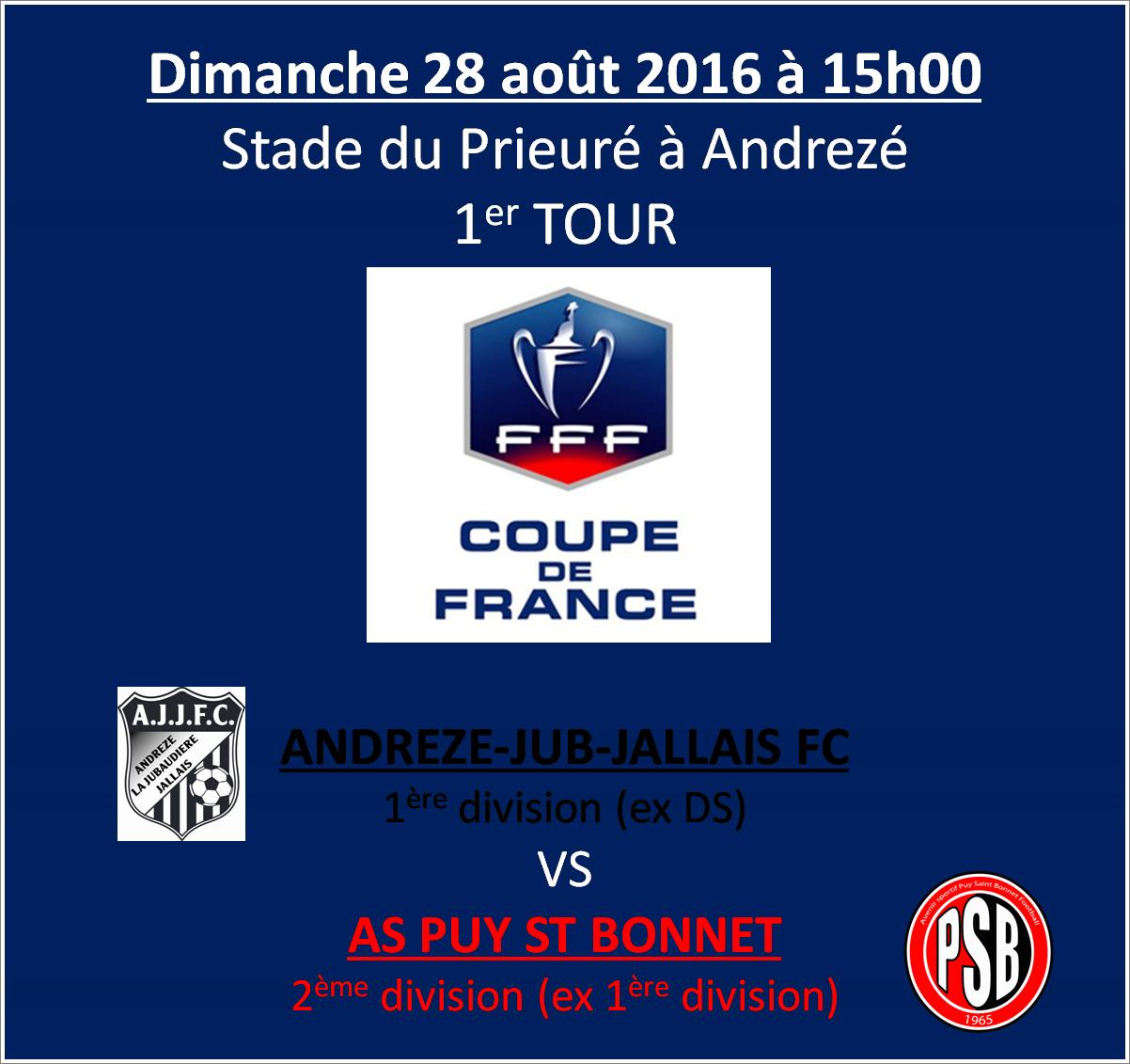Avant match 1er tour coupe de france asp puy st bonnet football - Coupe de france 1er tour ...