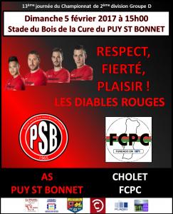 Affiche équipe 1 Cholet FCPC
